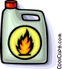 Vector Clip Art picture  of a flammable material