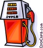 gas pump Vector Clip Art graphic