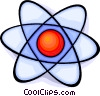 atomic symbol Vector Clipart graphic