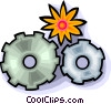 gears of progress and nature Vector Clipart picture