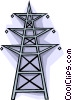 hydro tower Vector Clip Art graphic
