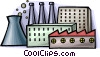nuclear energy and factories Vector Clip Art image