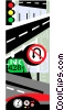 traffic, highways Vector Clipart picture