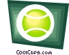 tennis ball Vector Clipart picture