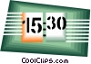 Vector Clip Art graphic  of a clock