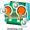 Vector Clipart graphic  of a table tennis