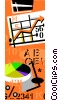 Vector Clip Art graphic  of a business charts