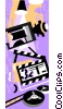 Vector Clipart picture  of a director's clapboard