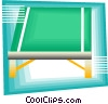 Vector Clip Art image  of a table tennis