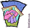Vector Clipart picture  of a literacy