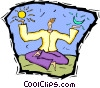Vector Clipart picture  of a meditation