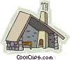 hiker's rest lodge Vector Clipart image