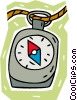 Vector Clipart graphic  of a compass