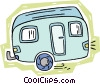 camping trailer Vector Clipart illustration