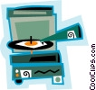 record player Vector Clip Art image