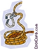 climber's rope Vector Clipart illustration