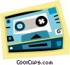 Vector Clipart graphic  of a video cassette tape