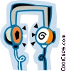 Vector Clip Art image  of a head phones