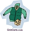 Vector Clip Art image  of a snowsuit