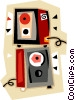 Vector Clipart picture  of a speakers