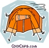 Vector Clipart graphic  of a camping tent