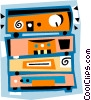 Vector Clip Art graphic  of a radio
