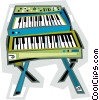 Keyboards Vector Clip Art graphic