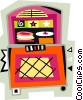 juke box Vector Clipart illustration