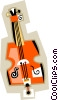 Vector Clip Art image  of a bass guitar