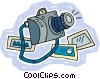 Vector Clipart picture  of a camera