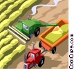Vector Clip Art graphic  of a Grain harvest