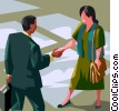 greeting or welcome with shaking hands Vector Clip Art graphic