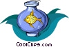 Vector Clip Art picture  of a fish in a fishbowl