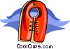 Vector Clip Art graphic  of a life preserver