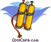 Vector Clipart picture  of a scuba tanks