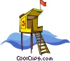 lifeguard's tower Vector Clip Art picture