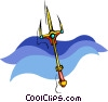 Vector Clip Art graphic  of a trident