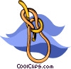 rope with knot Vector Clipart image