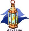 Vector Clip Art picture  of a oil lamp