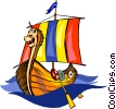 Viking ship Vector Clipart picture