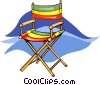 Vector Clip Art image  of a deck chair