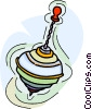 Vector Clip Art graphic  of a spinning top