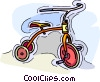 Vector Clip Art graphic  of a child's tricycle
