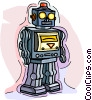 toy robot Vector Clipart image