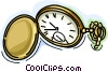 Vector Clip Art graphic  of a pocket watch