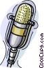 Vector Clipart image  of a Broadcast microphone