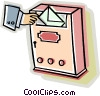 posting a letter Vector Clipart illustration