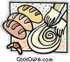 Vector Clip Art graphic  of a making bread