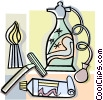 shaving and bathroom items Vector Clip Art picture