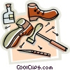 Vector Clip Art graphic  of a shoe repair